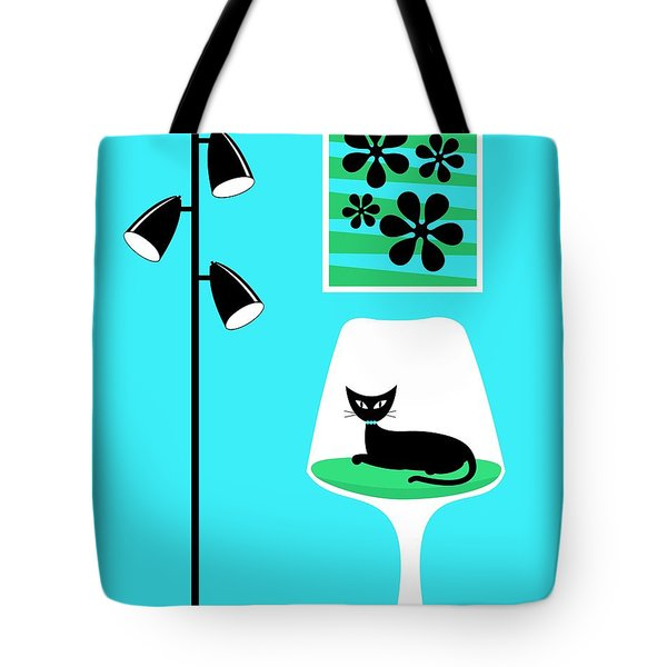 Mini Groovy Flowers 2 Tote Bag by Donna Mibus