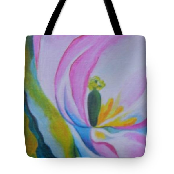 Tote Bag featuring the painting Mini O'keefe by Diana Bursztein