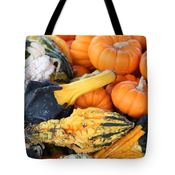 Tote Bag featuring the photograph Mini Pumpkins And Gourds by Cynthia Guinn
