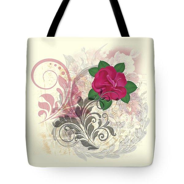 Mini Rose Flourish Tote Bag