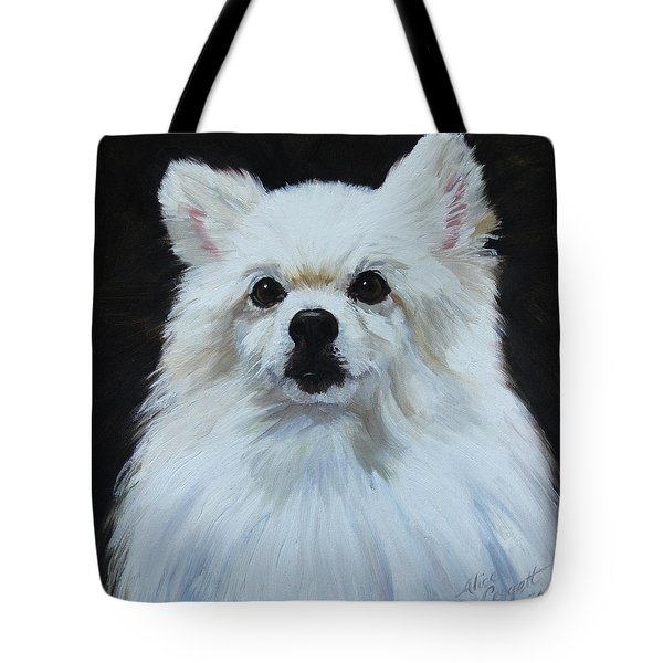 Miniature American Eskimo Dog Tote Bag by Alice Leggett