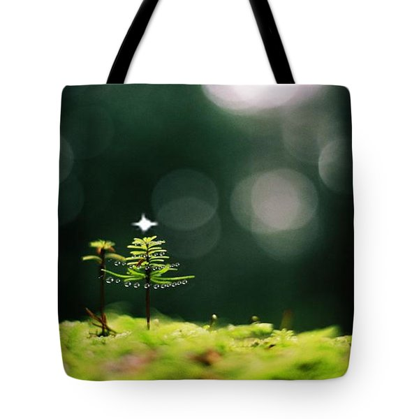 Miniature Christmas Tree Tote Bag by Cathie Douglas