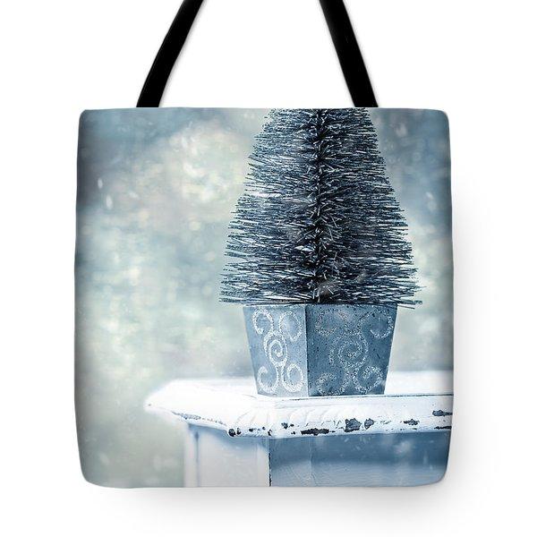 Miniature Christmas Tree Tote Bag by Amanda Elwell