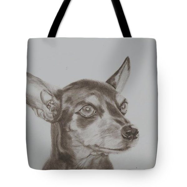 miniature pinscher Tronter Tote Bag