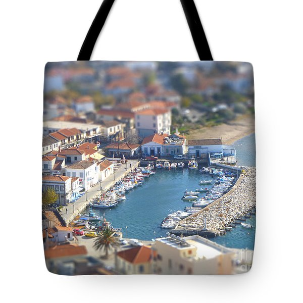 Tote Bag featuring the photograph Miniature Port by Vicki Spindler