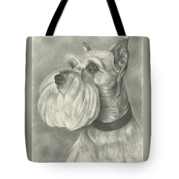 Miniature Schnauzer Tote Bag by Lena Auxier