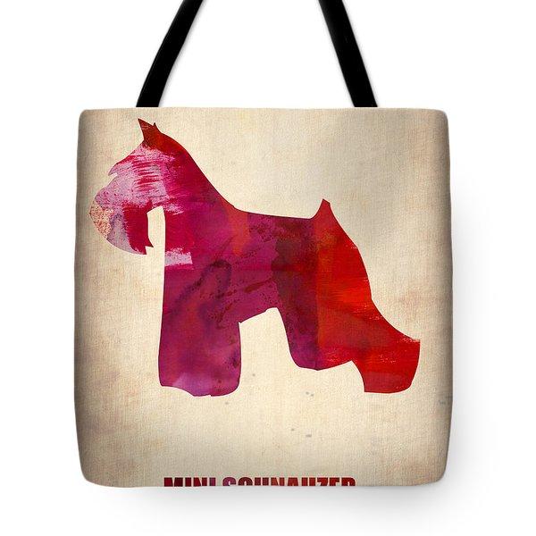 Miniature Schnauzer Poster Tote Bag by Naxart Studio
