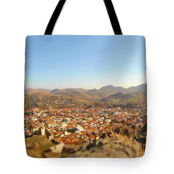 Miniature Town Tote Bag by Vicki Spindler