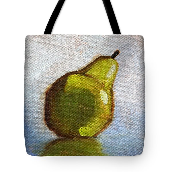 Minimalist Pear Painting Tote Bag