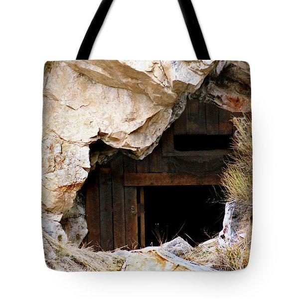 Mining Backbone Tote Bag by Minnie Lippiatt