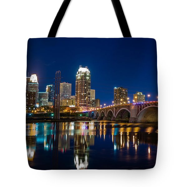 Minneapolis City Lights Tote Bag by Mark Goodman