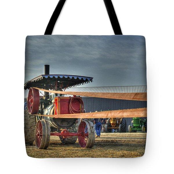Minneapolis Return Flue Threshing Tote Bag by Shelly Gunderson