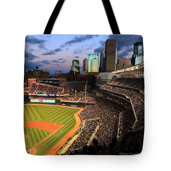Minnesota Twins Minneapolis Skyline Target Field Tote Bag