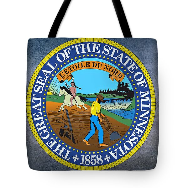 Minnesota State Seal Tote Bag by Movie Poster Prints