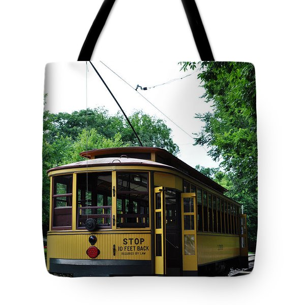 Tote Bag featuring the photograph Minnesota Streetcar Museum by Kyle Hanson