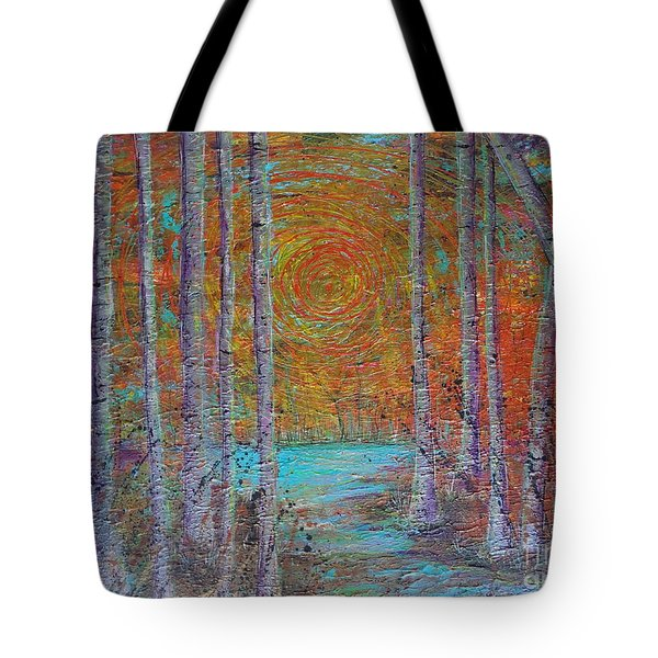 Tote Bag featuring the painting Minnesota Sunset by Jacqueline Athmann
