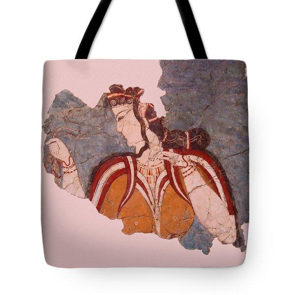 Minoan Wall Painting Tote Bag