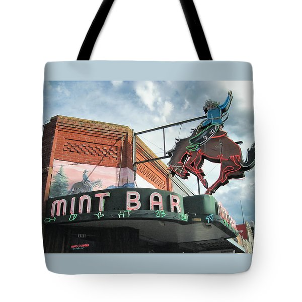 Mint Bar Sheridan Wyoming Tote Bag
