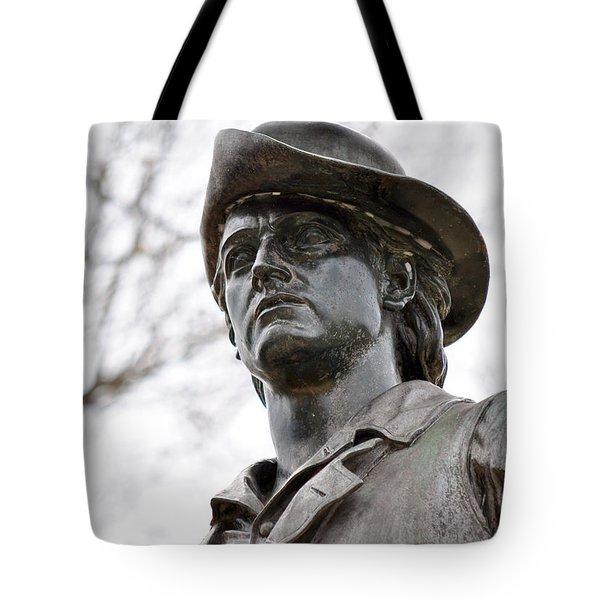 Minute Man Statue 3 Tote Bag