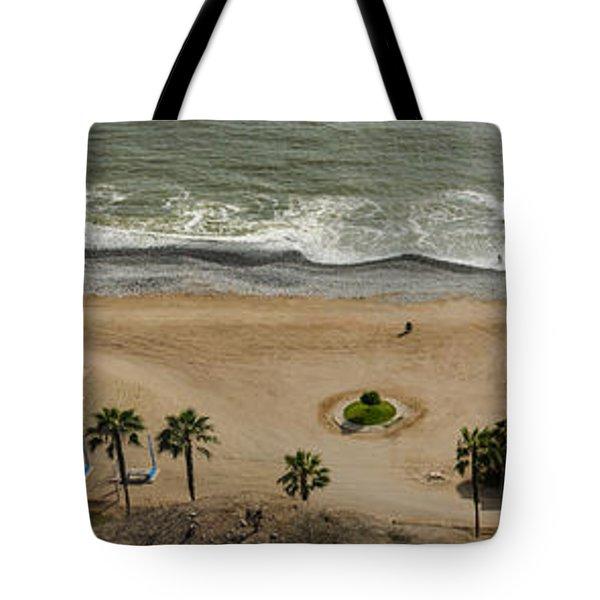 Miraflores Beach Panorama Tote Bag