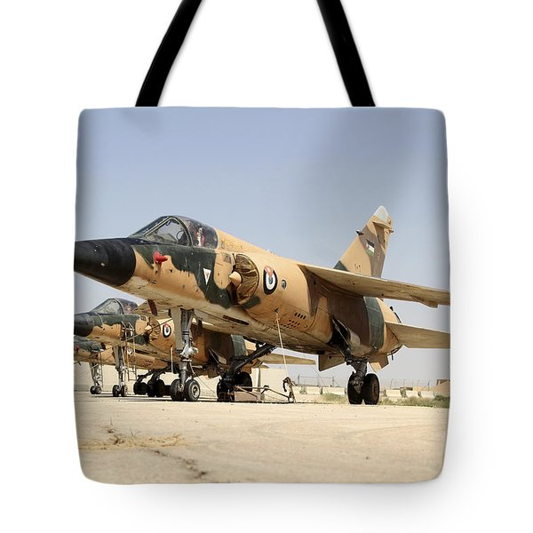 Mirage F.1 Fighter Planes Of The Royal Tote Bag by Ofer Zidon