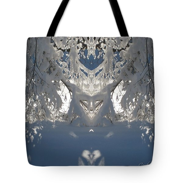 Mirror Of Snow  Tote Bag