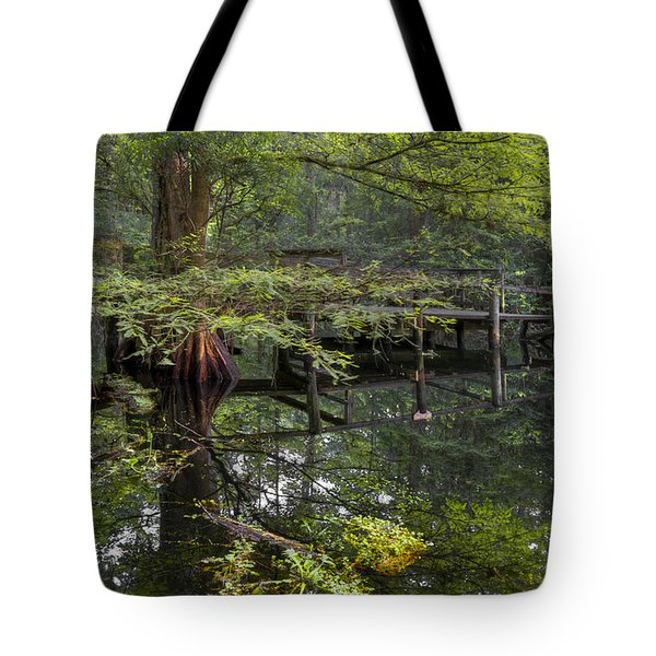 Mirror To The Soul Tote Bag by Debra and Dave Vanderlaan