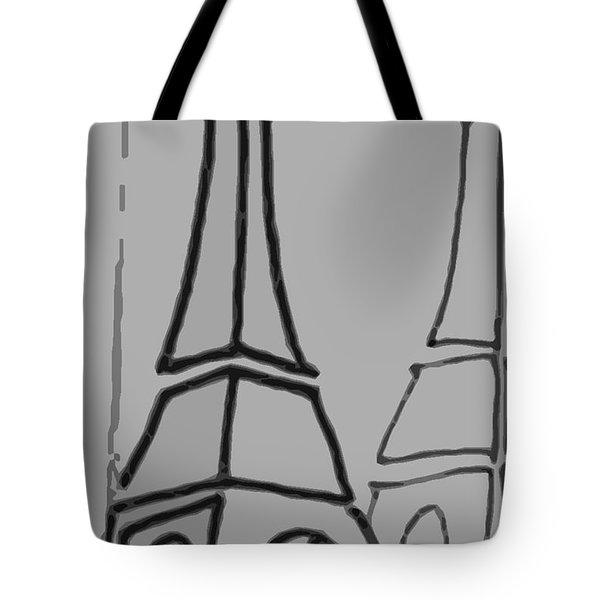 Mirrored Eiffel Tower Tote Bag