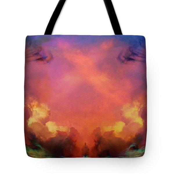 Tote Bag featuring the photograph Mirrored Sky by Carol Whaley Addassi