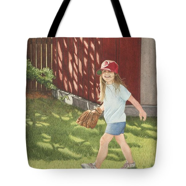 Tote Bag featuring the painting Mischief by Dee Dee  Whittle