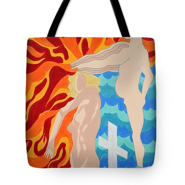 Tote Bag featuring the painting Misdirected by Erika Chamberlin