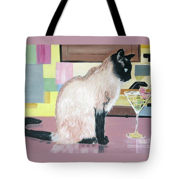 Miss Kitty And Her Treat Tote Bag