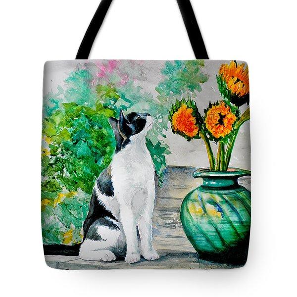 Da129 Miss Kitty Daniel Adams Tote Bag