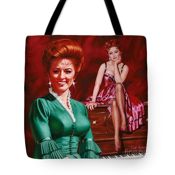 Miss Kitty Tote Bag by Dick Bobnick
