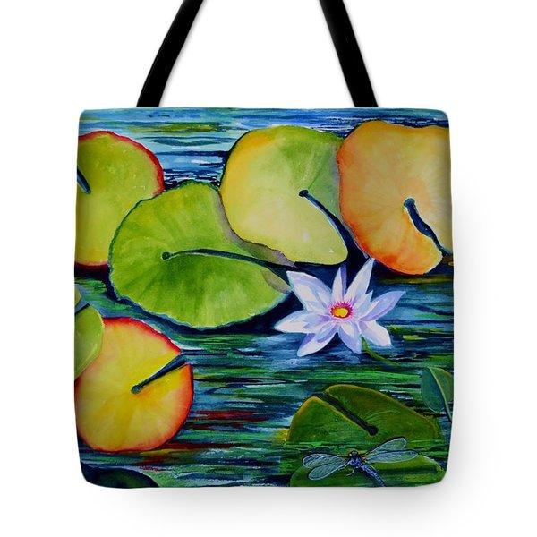 Whimsical Waterlily Tote Bag
