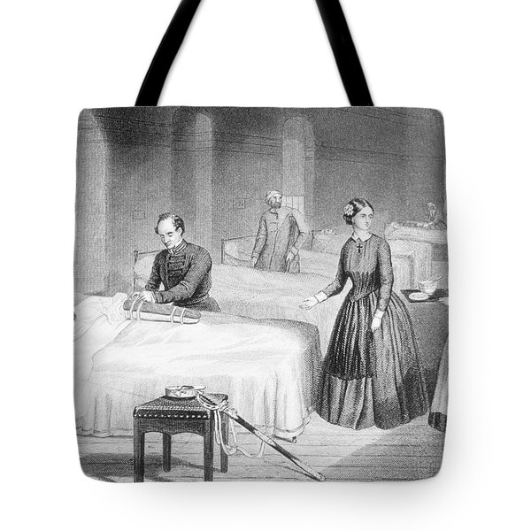 Miss Nightingale In The Hospital Tote Bag by Robert Neal Hind
