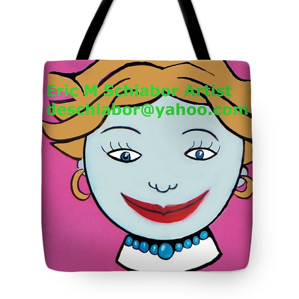 Miss Tillie Tote Bag by Eric  Schiabor