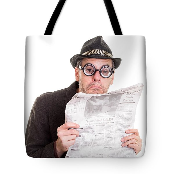 Miss You In The Funny Papers Tote Bag by Edward Fielding