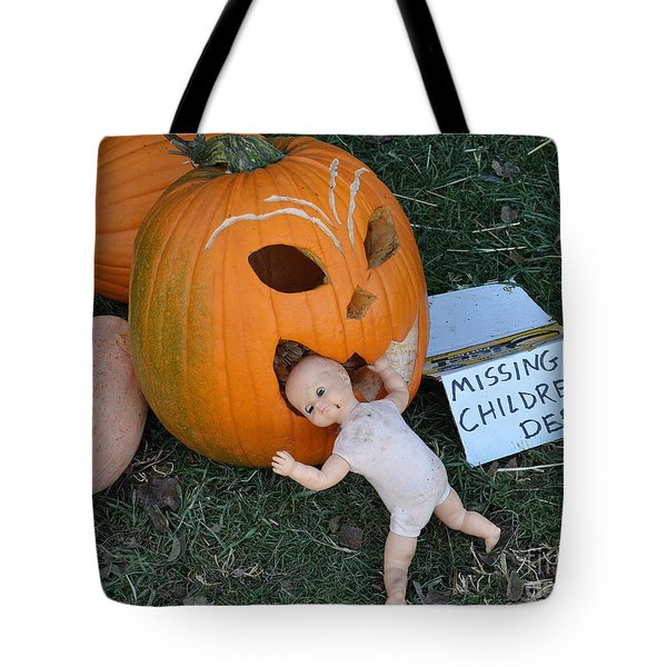 Tote Bag featuring the photograph Missing Children Department by Minnie Lippiatt