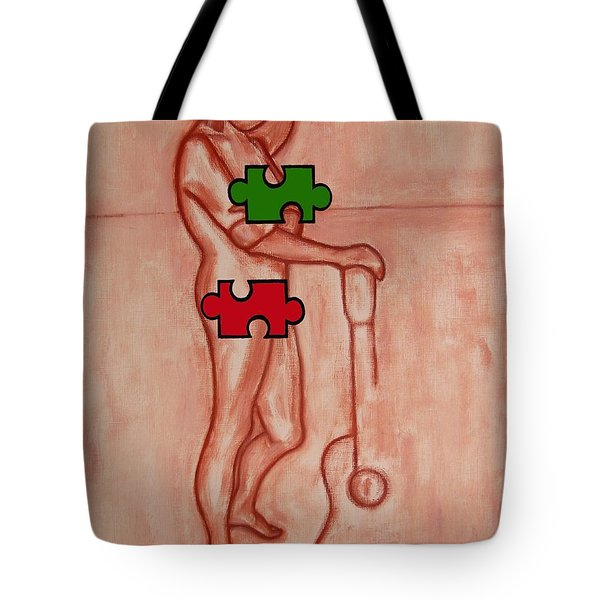 Missing Piece 9 Tote Bag