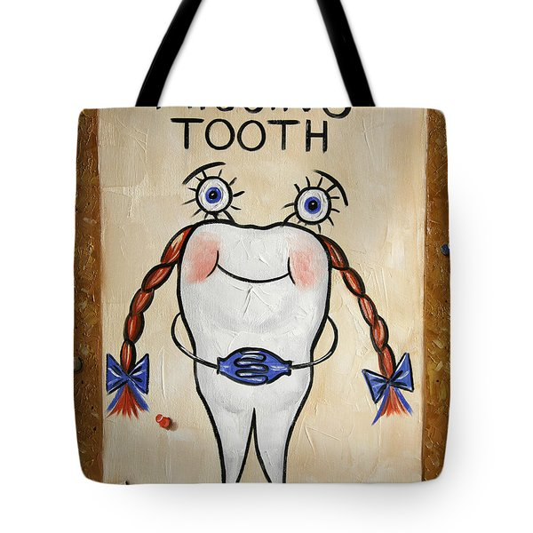 Tote Bag featuring the painting Missing Tooth by Anthony Falbo