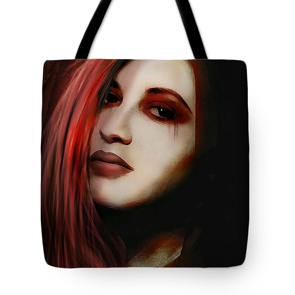 Tote Bag featuring the digital art Missing Whisper by Galen Valle