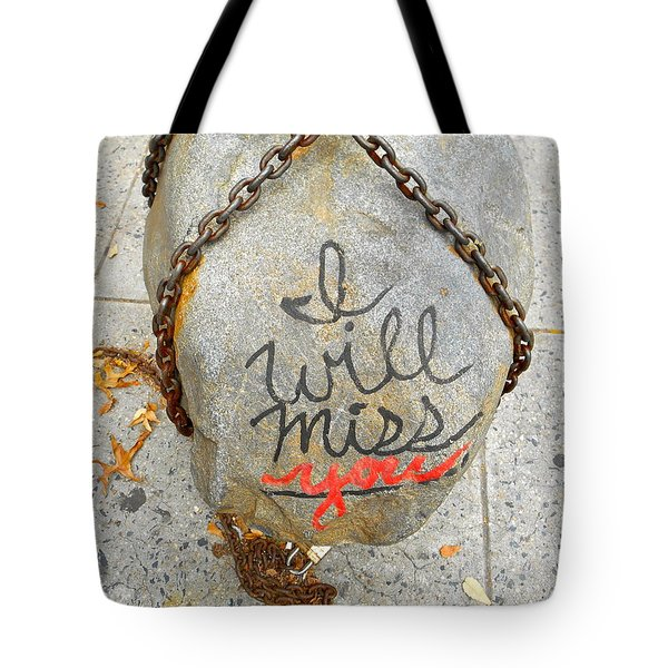 Tote Bag featuring the photograph Missing You by Joan Reese