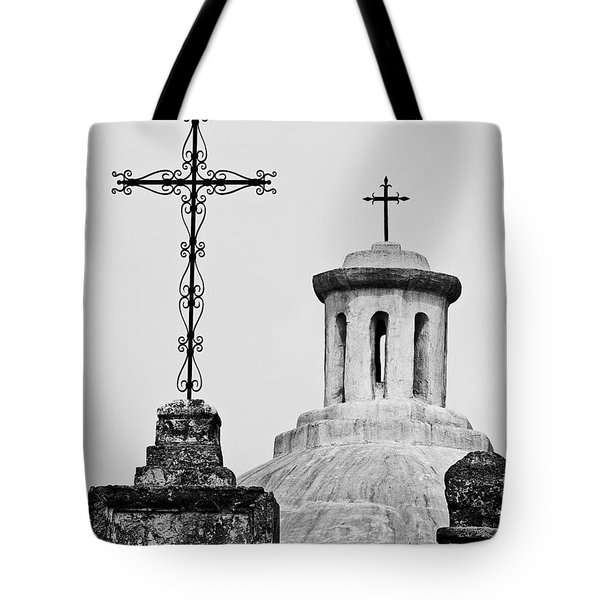 Mission Concepcion Crosses Tote Bag