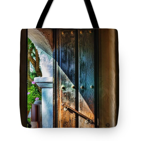 Mission Door Tote Bag by Joan Carroll