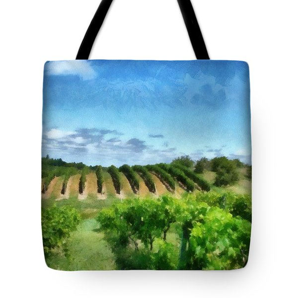 Mission Peninsula Vineyard Ll Tote Bag