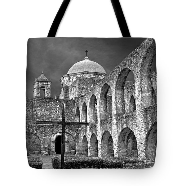Mission San Jose Arches Bw Tote Bag