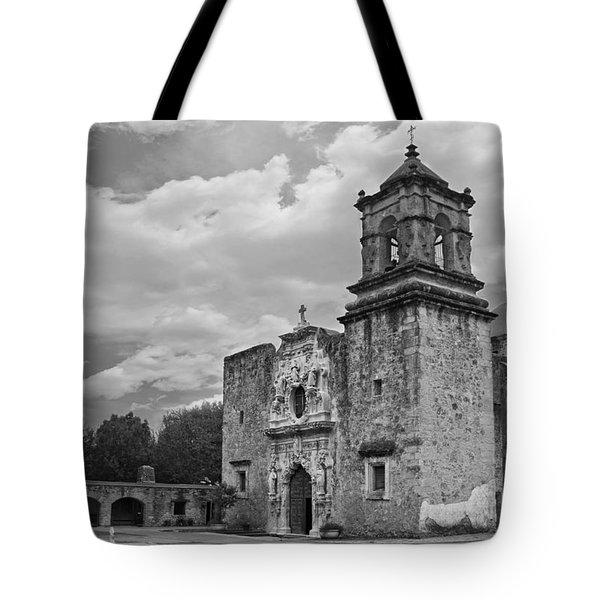 Mission San Jose Bw Tote Bag