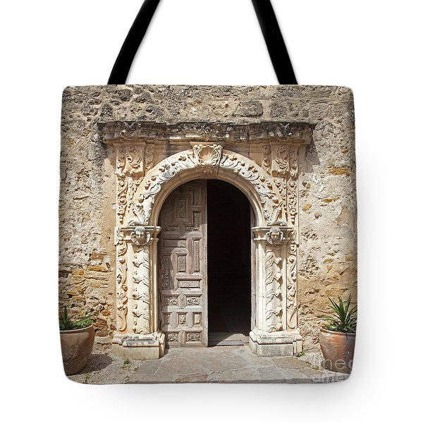 Mission San Jose Chapel Entry Doorway Tote Bag