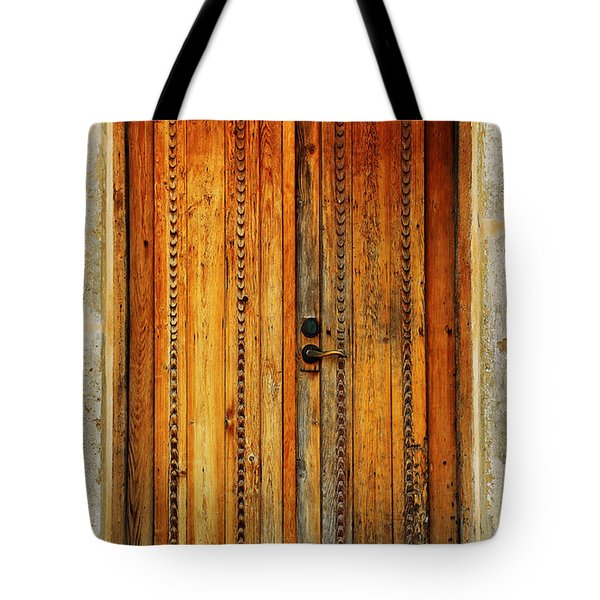 Mission San Juan Capistrano Door -- San Antonio Tote Bag